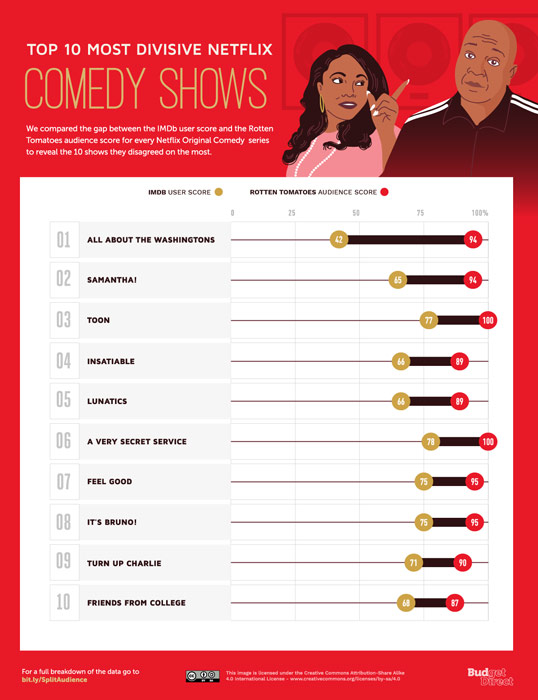 The Top 10 Most Divisive Netflix Shows Comedy Shows
