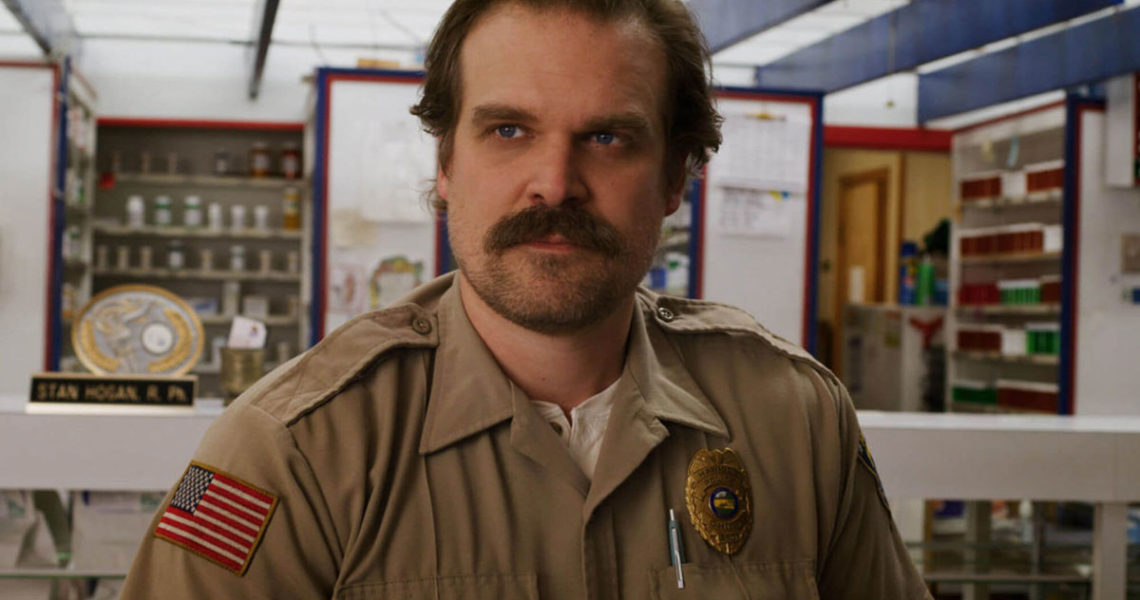 Jim Hopper posts a BTS photo from Stranger Things Season 3
