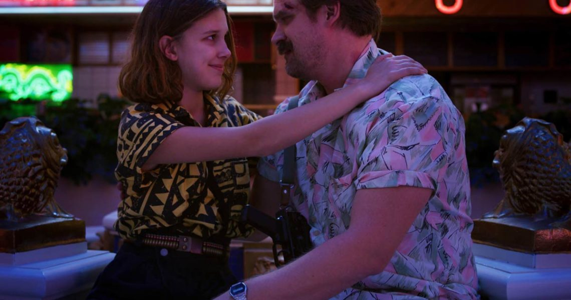 Stranger Things stars Millie Bobby Brown and Harbour chat in season 4 BTS video